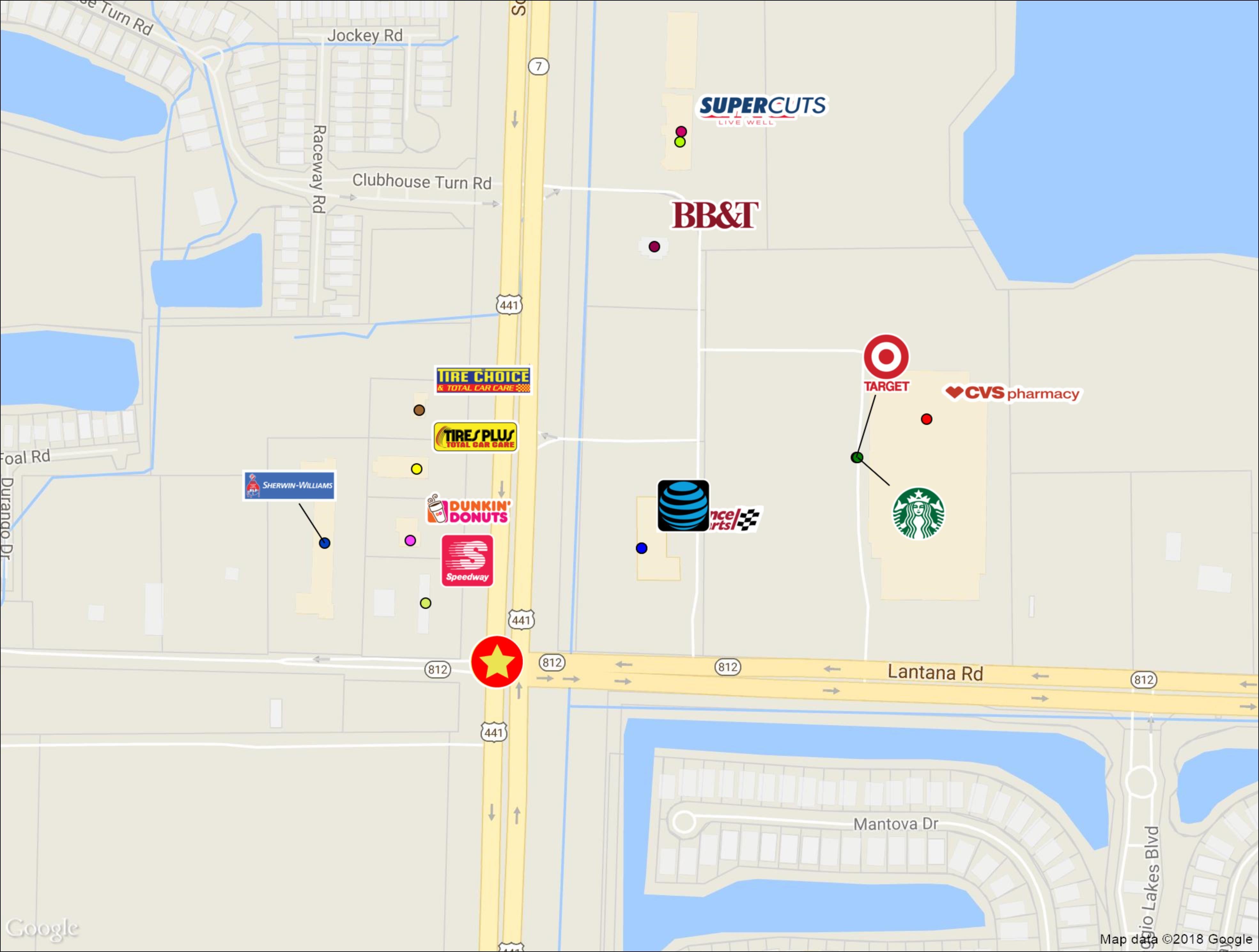 Roberts Equities Llc, Developing Property 441 & Lantana Road. - Lantana Florida Map
