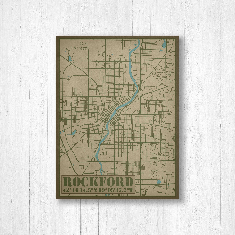 Rockford Illinois City Street Map Print, Map Of Rockford Illinois - Printable Map Of Rockford Il