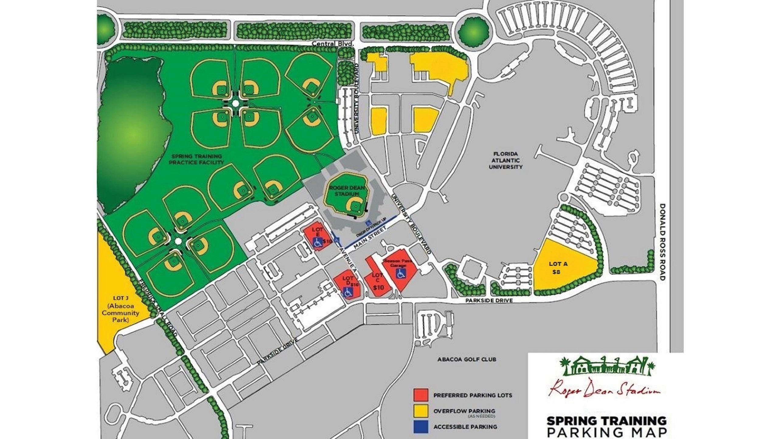 Roger Dean Chevrolet Stadium | Miami Marlins - Abacoa Florida Map