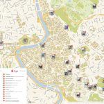 Rome Printable Tourist Map | Sygic Travel   Printable Walking Map Of Rome