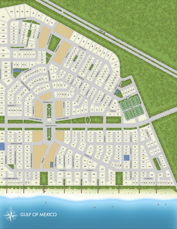Rosemary Beach Community Map - Rosemary Florida Map