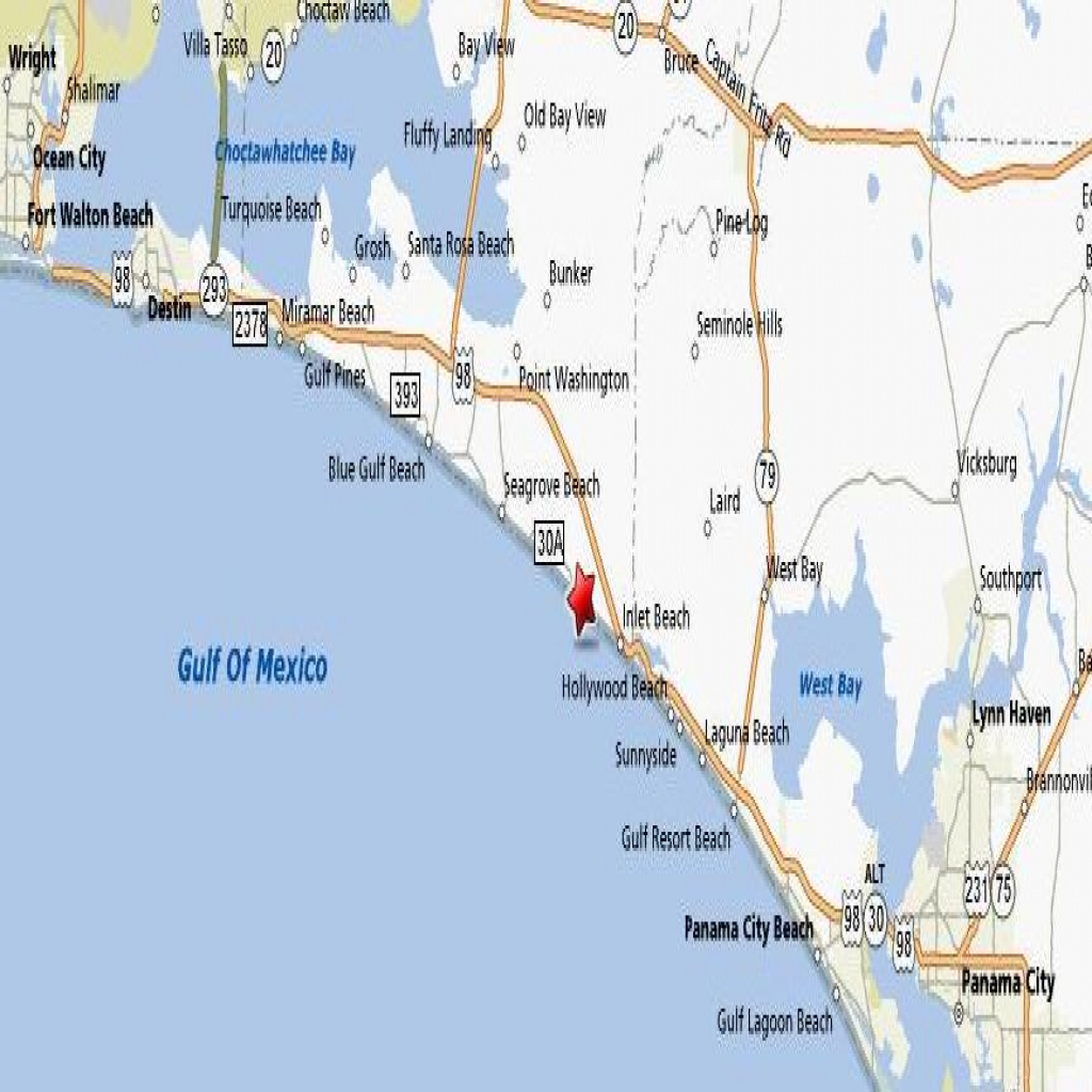 Rosemary Beach Map Florida - The Most Beautiful Beach 2018 - Rosemary Florida Map
