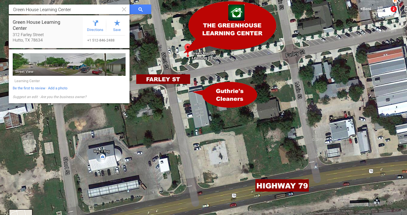 Round Rock And Hutto Daycare | The Greenhouse Learning Center - Hutto Texas Map