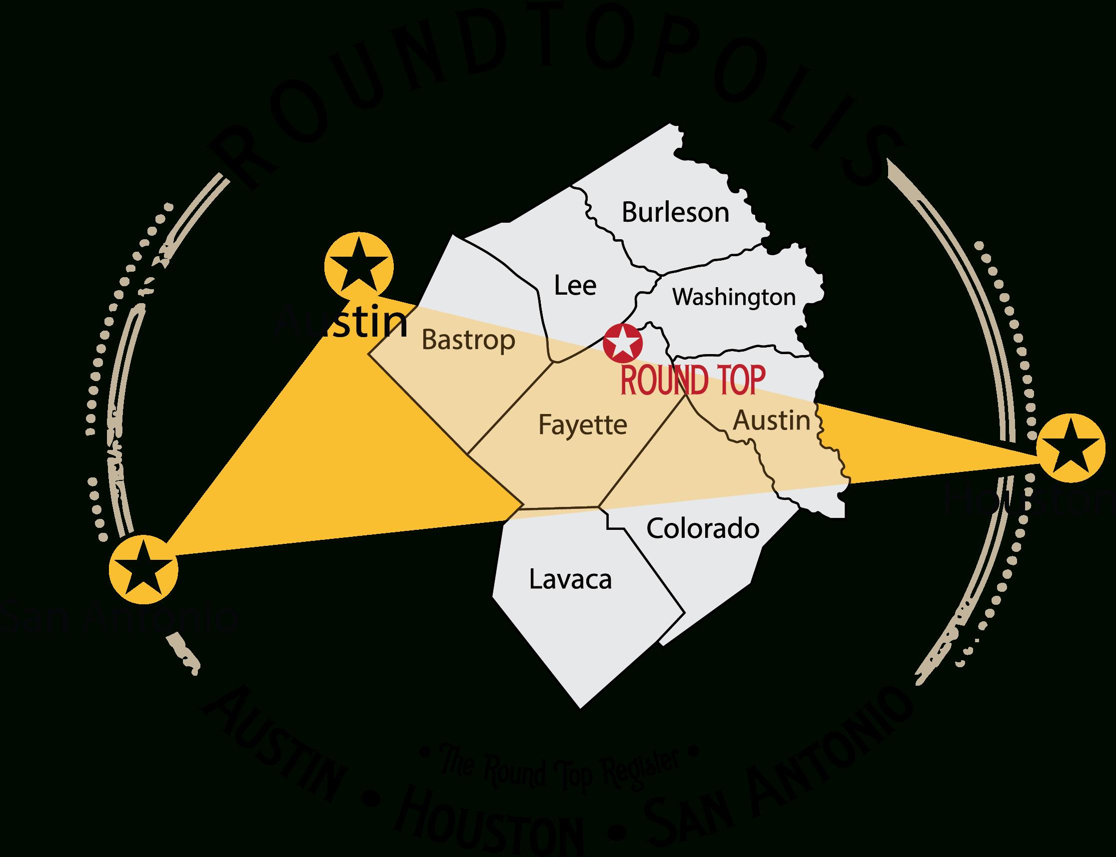 Roundtopolis Map (1) - Round Top - Round Top Texas Map