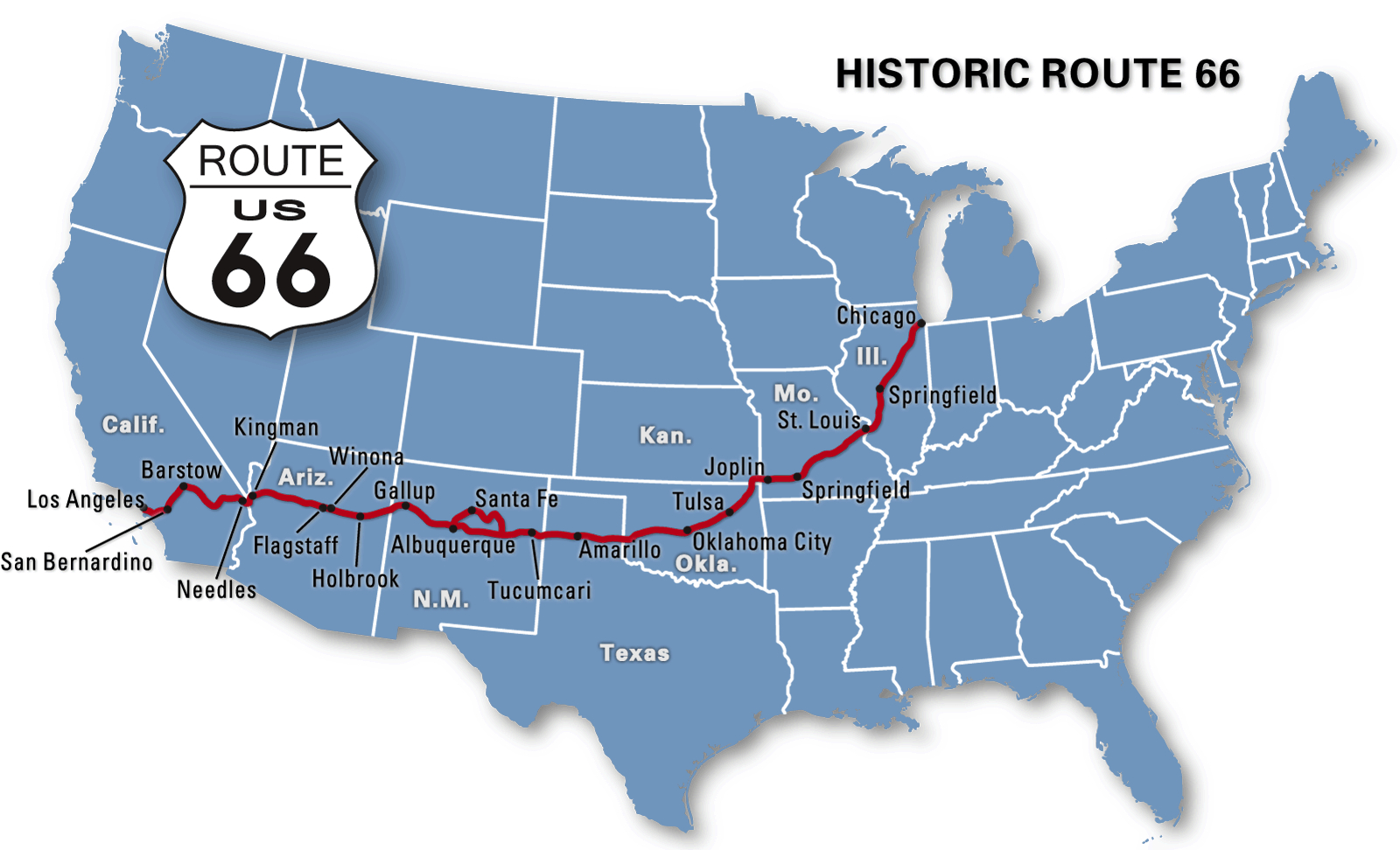 Route 66 Map | Places In My Heart | Route 66 Road Trip, Route 66 Map - Map Of Route 66 From Chicago To California