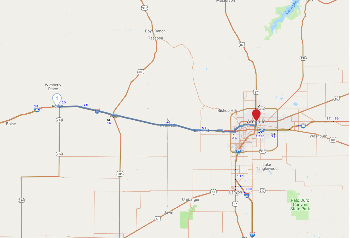 Route 66 - Western Texas - Aaa Texas Maps