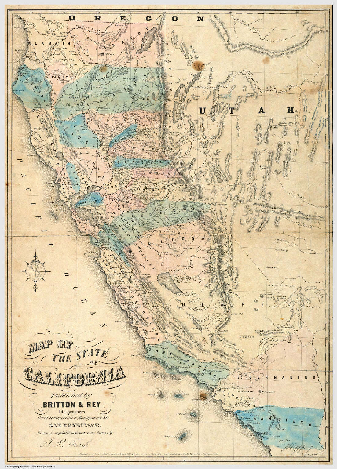 Rumsey Map O Map Of California Springs Map Of California Gold Rush - California Gold Rush Map