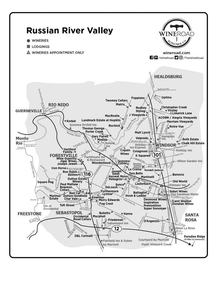 Russian River California Map