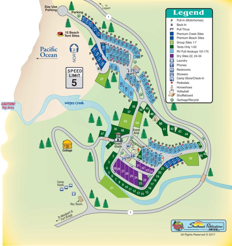 Rv Parks California Coast Map - Klipy - Rv Parks California Map