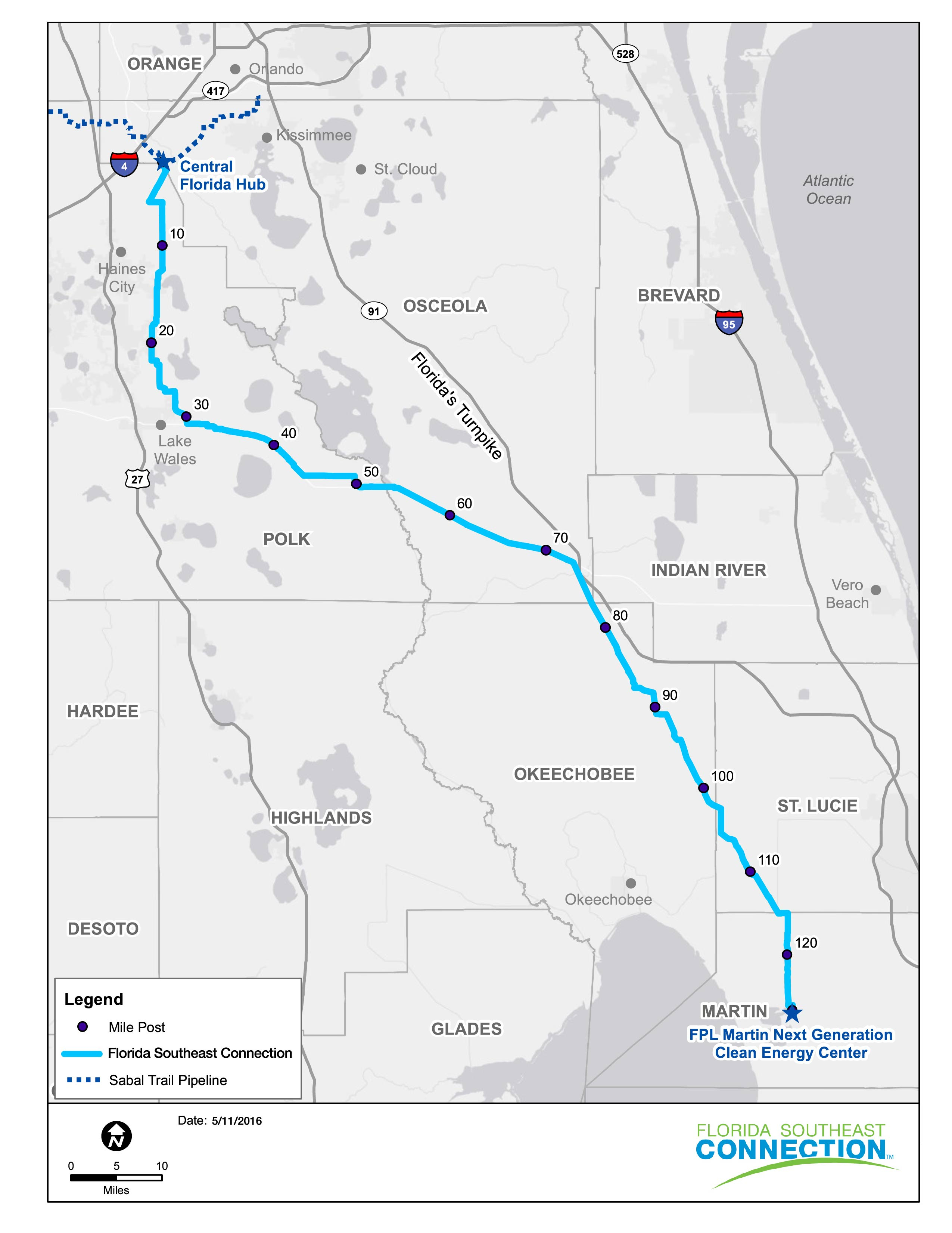 Sabal Trail, Florida Se Connection Gas Pipelines Up And Running - Gas Availability Map Florida