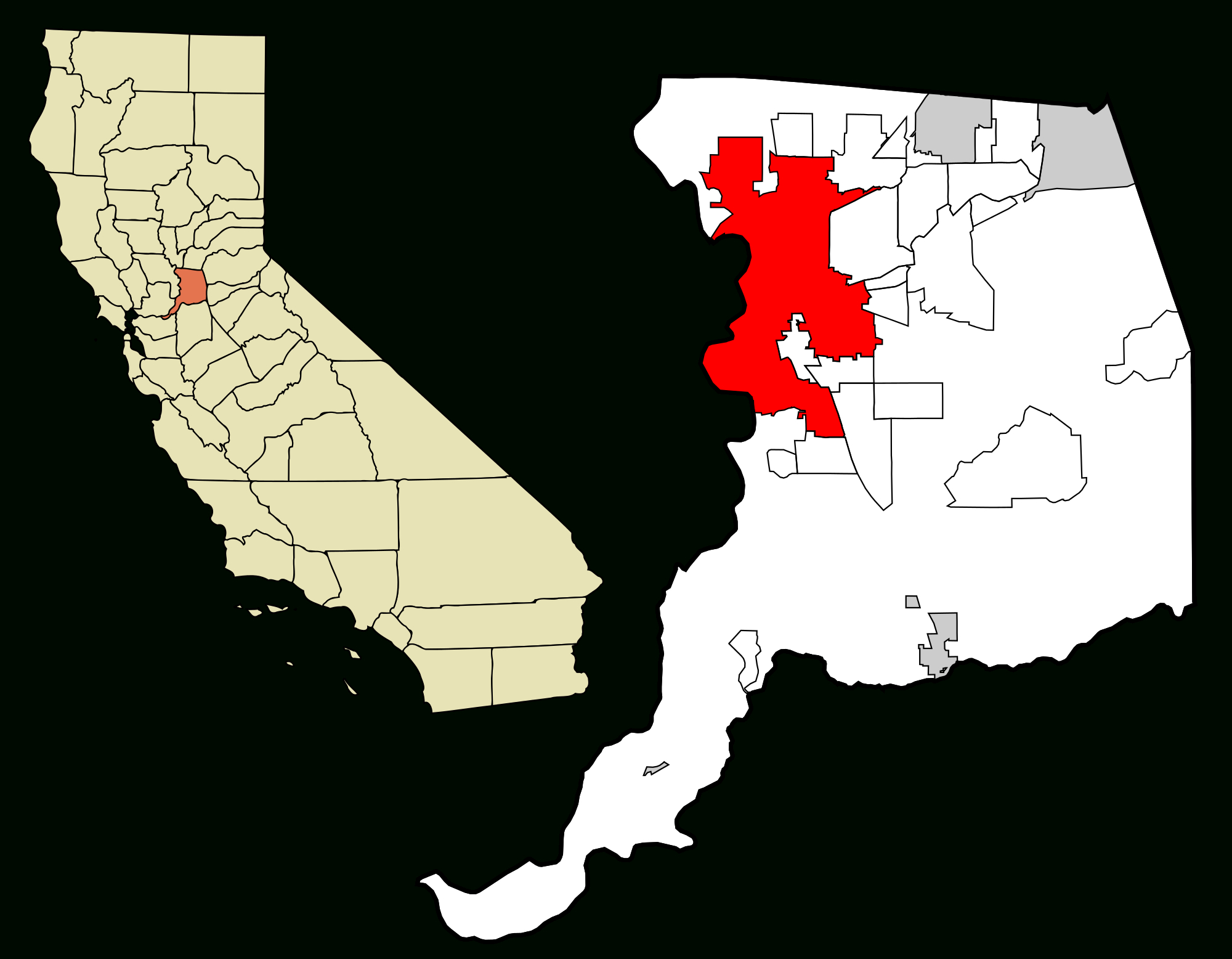 Sacramento, California - Wikipedia - Where Is Sacramento California On A Map