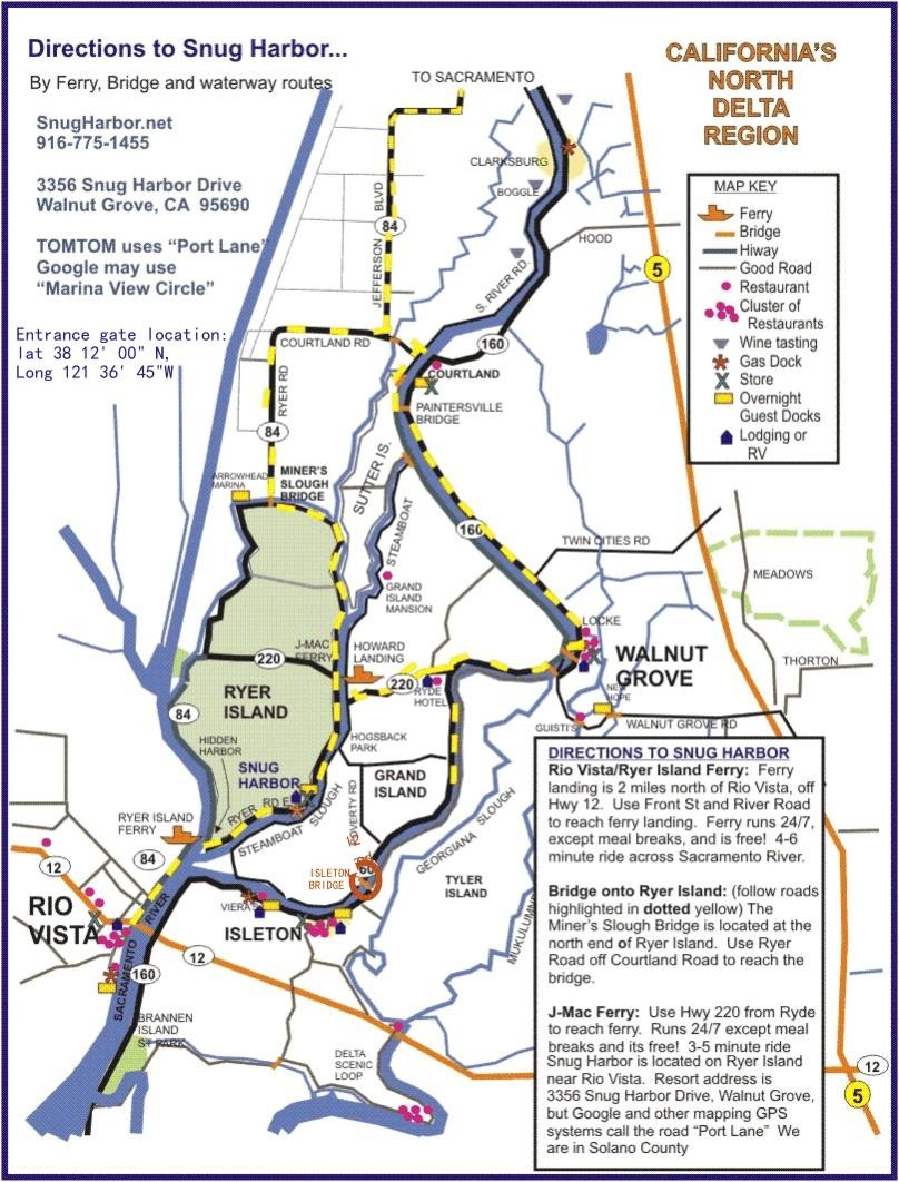 Sacramento Delta Map - California Delta Map