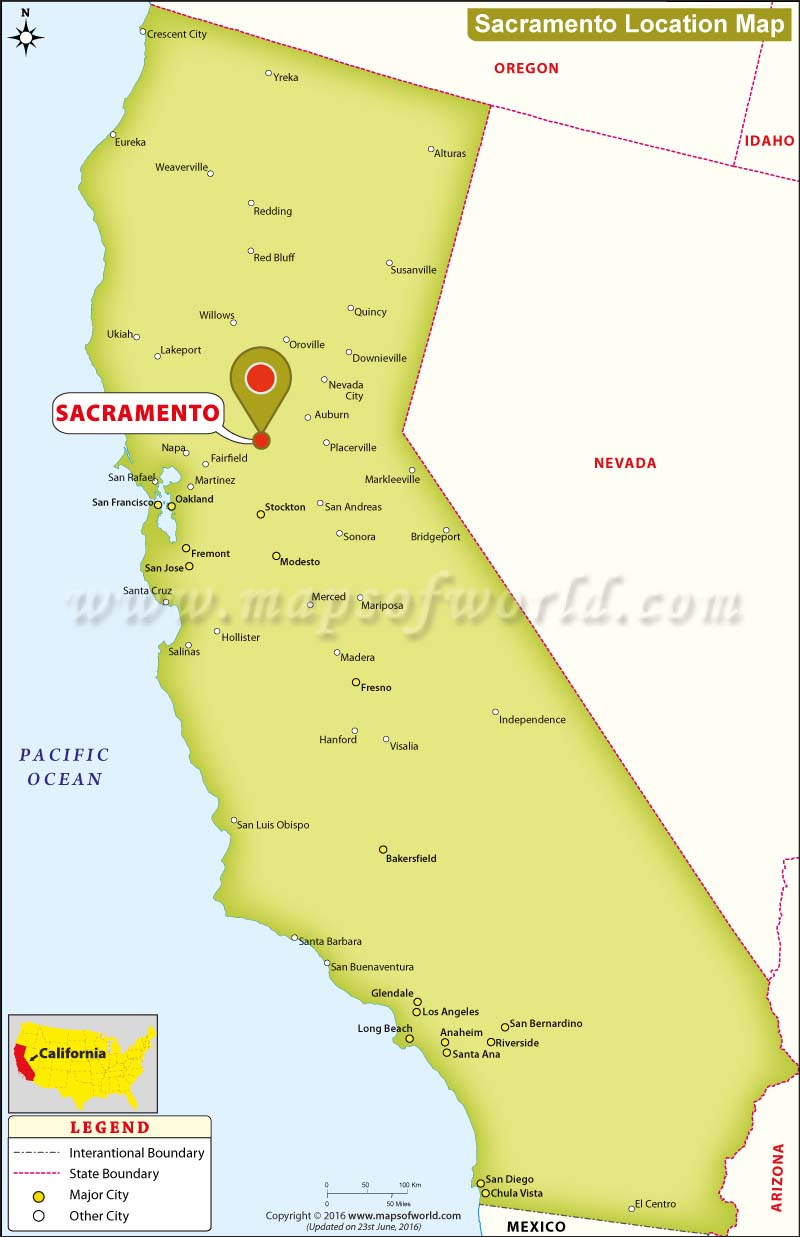 Sacramento Location Map Map California Sacramento California On Map - Sacramento California Map