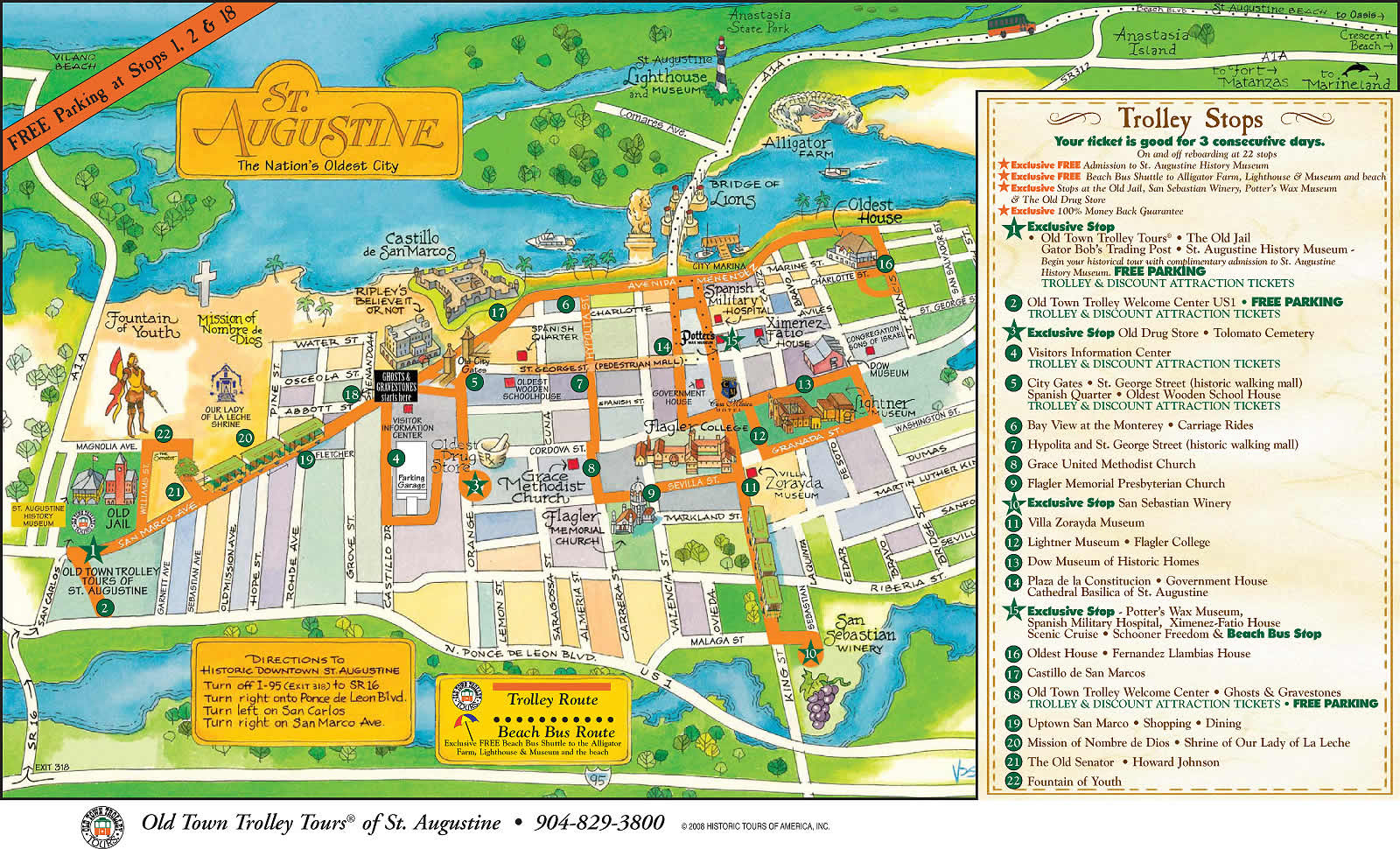 Saint Augustine - Florida - Local Maps - Find A Home - St Augustine Florida Map