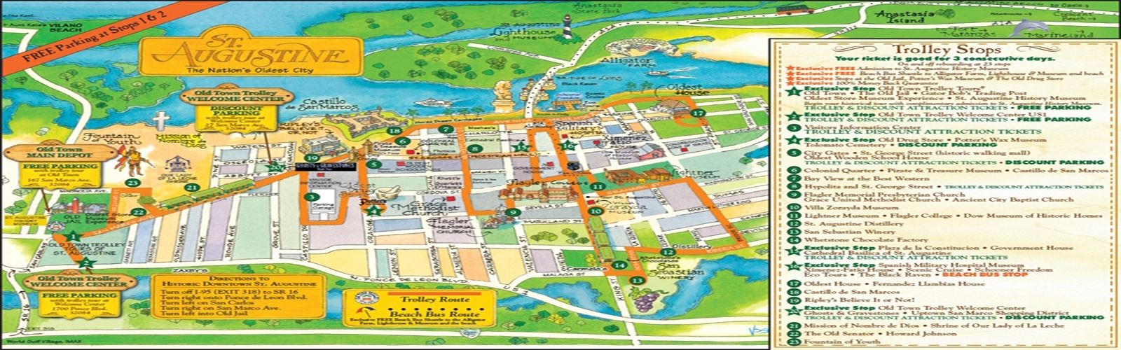 Saint Augustine Tourist Attractions | Haxball.co - St Augustine Florida Map Of Attractions