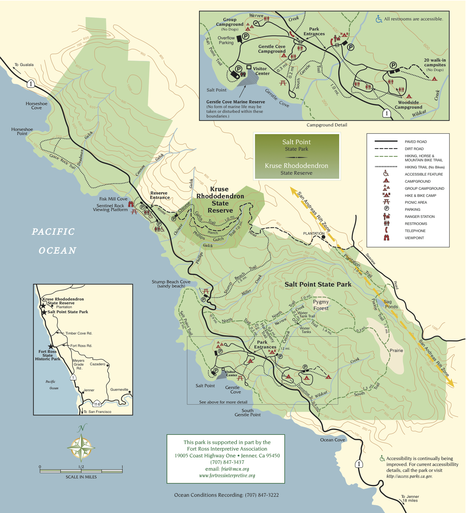 Salt Point State Park | Sonoma Hiking Trails - California State Parks Map