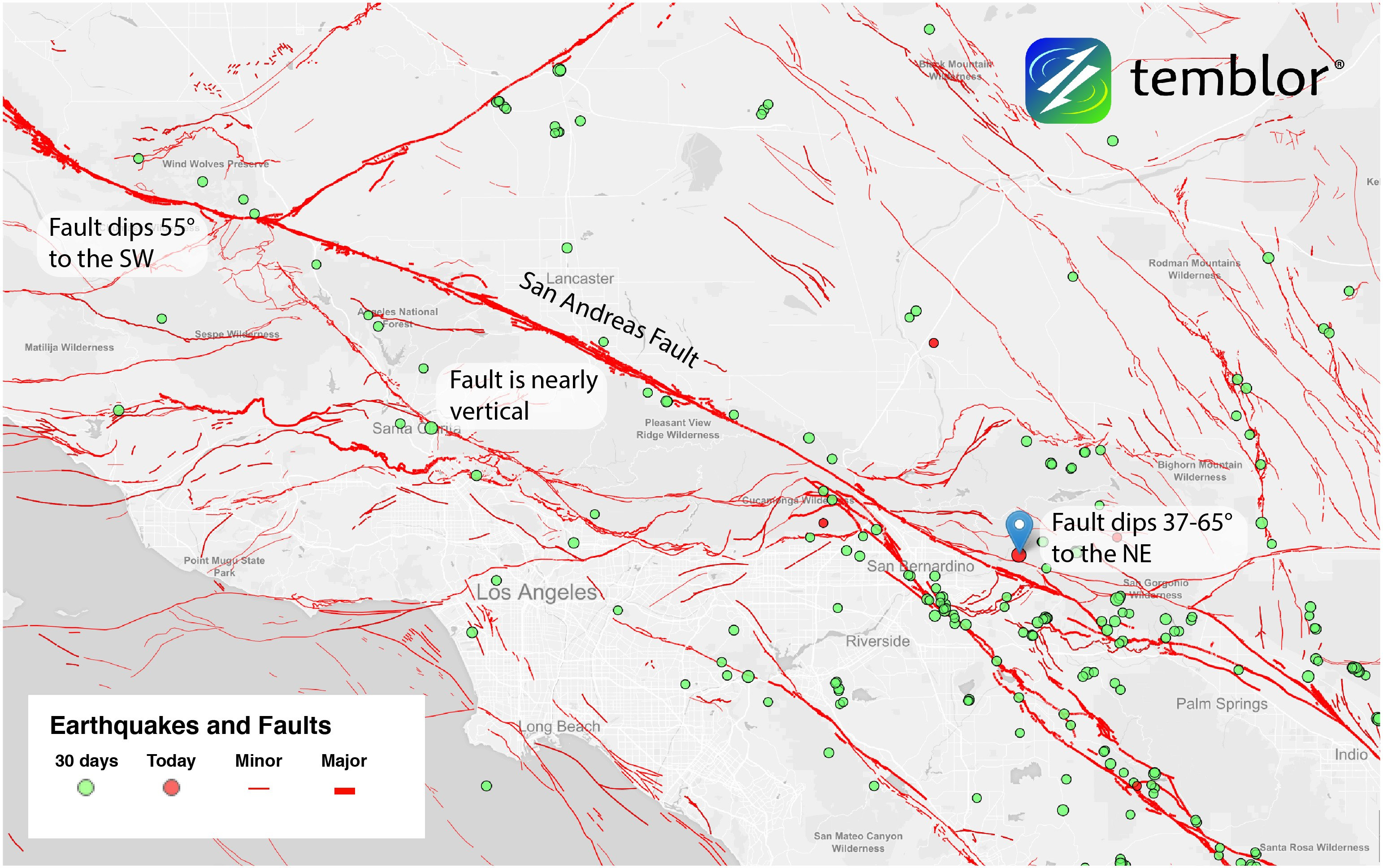 San Andreas Fault Map Large Map Of San Bernardino California Map - San Bernardino California Map