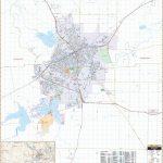 San Angelo, Tx Wall Map – Kappa Map Group   Street Map Of San Angelo Texas