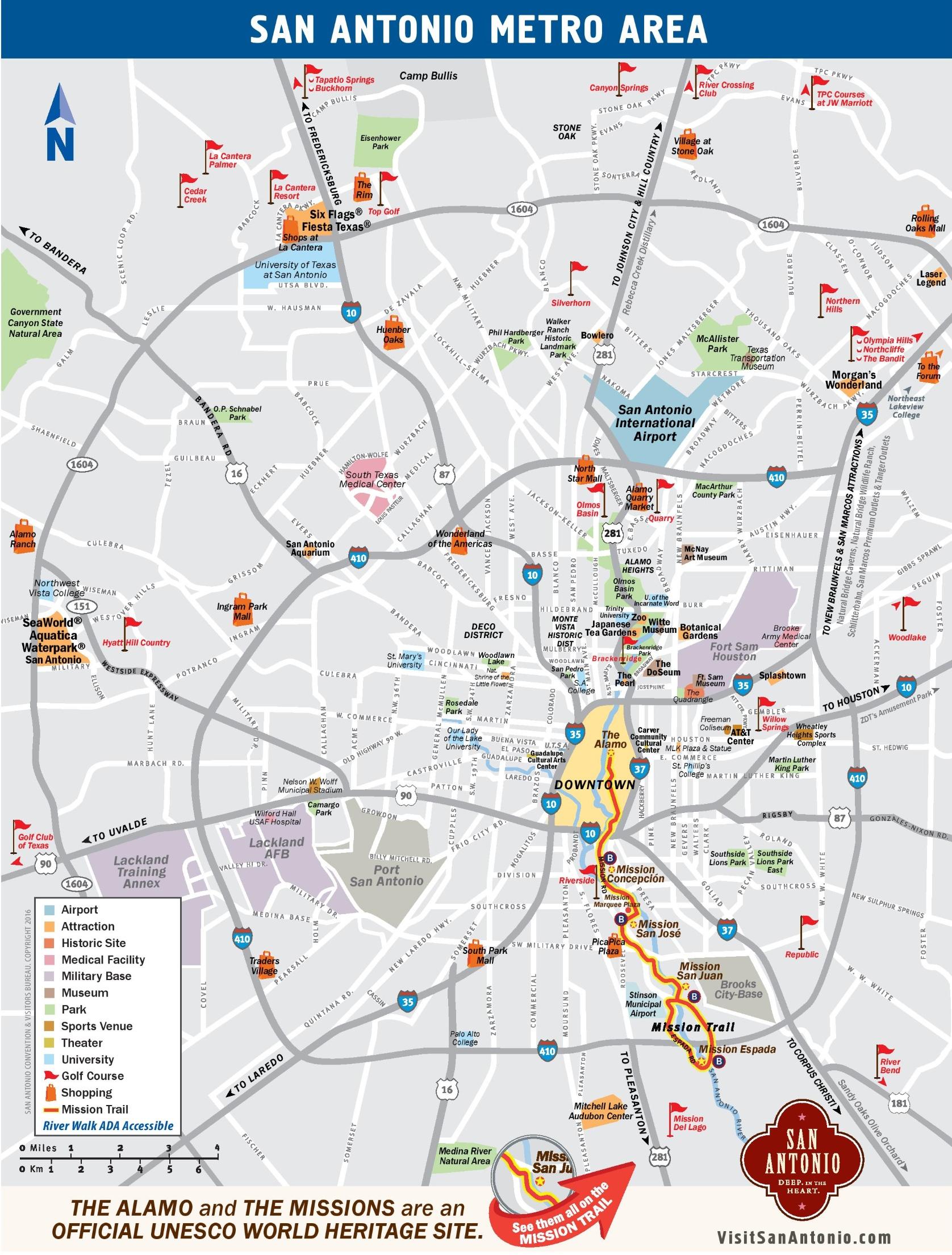 San Antonio Maps | Texas, U.s. | Maps Of San Antonio - Seaworld San Antonio Printable Map