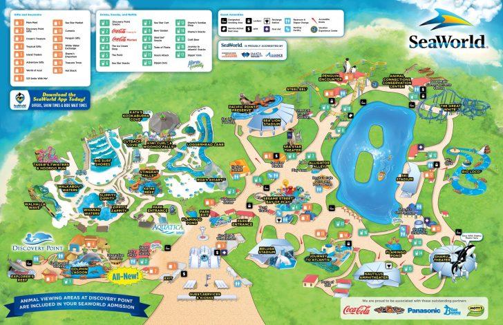 Printable Map Of Sea World Orlando
