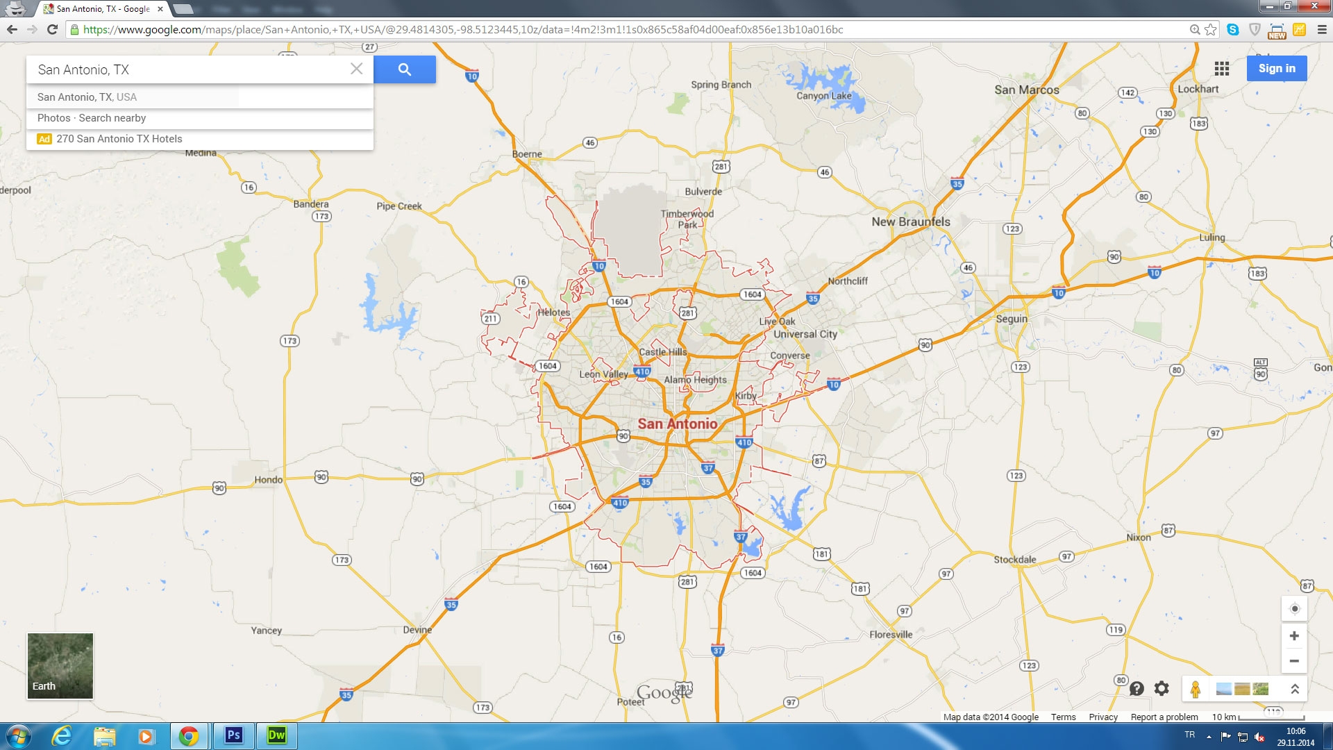 San Antonio Texas Map - Google Maps San Antonio Texas