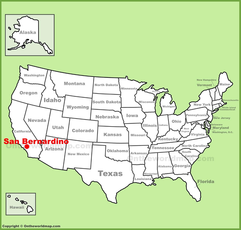 San Bernardino Location On The U.s. Map - San Bernardino California Map