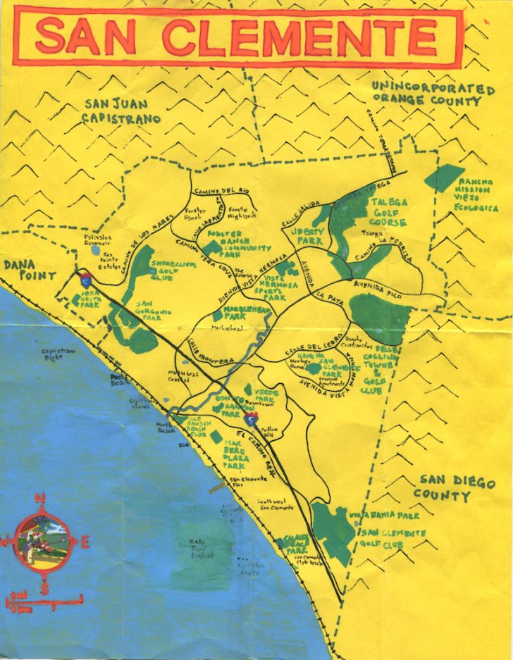 San Clemente California Map