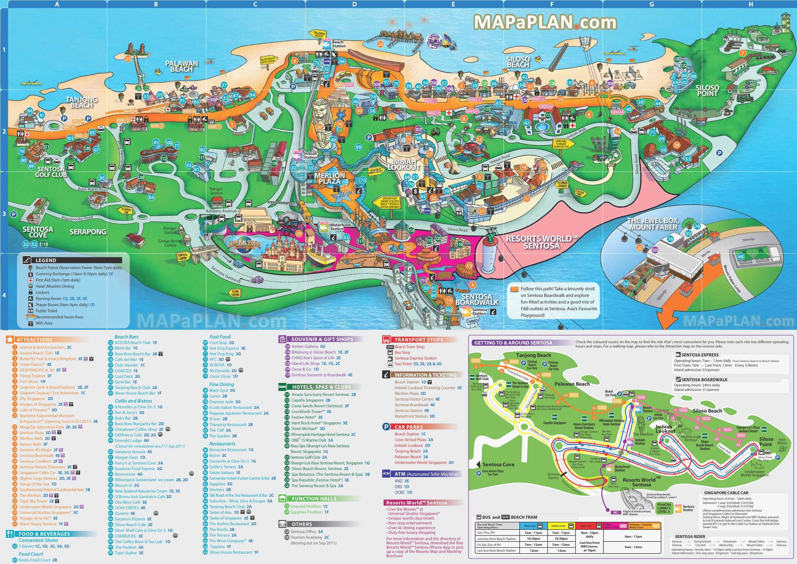 San Diego Attractions Map Awesome Singapore Maps Top Tourist - San Diego Attractions Map Printable