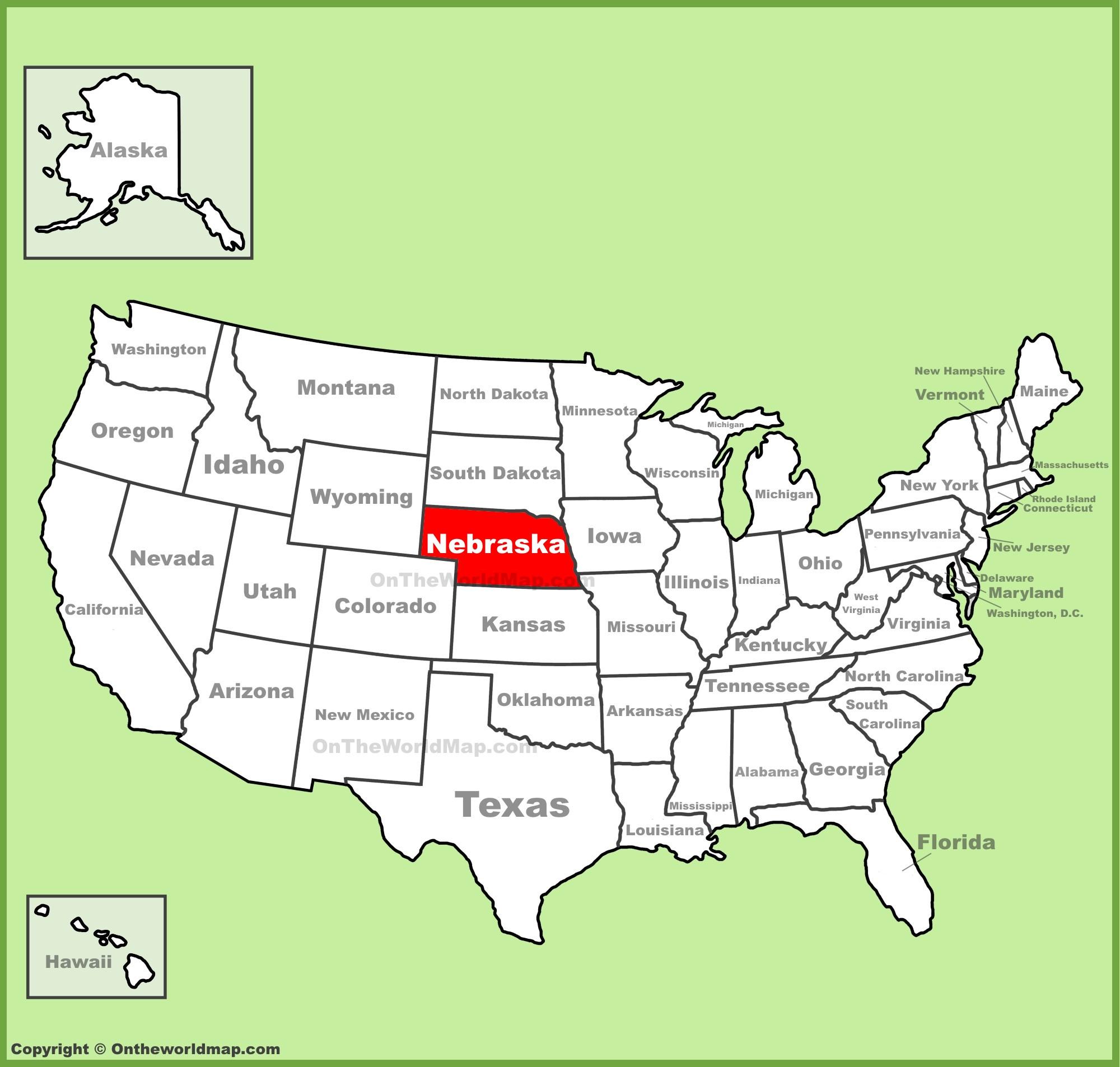 San Diego California On A Map Fresh Nebraska State Maps Usa - San Diego On A Map Of California