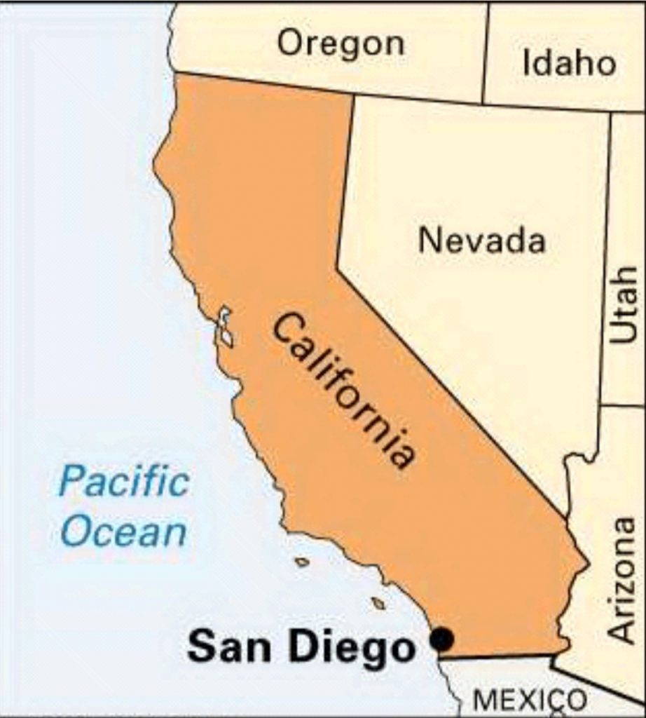 San Diego California On Map - Klipy - San Diego On The Map Of California