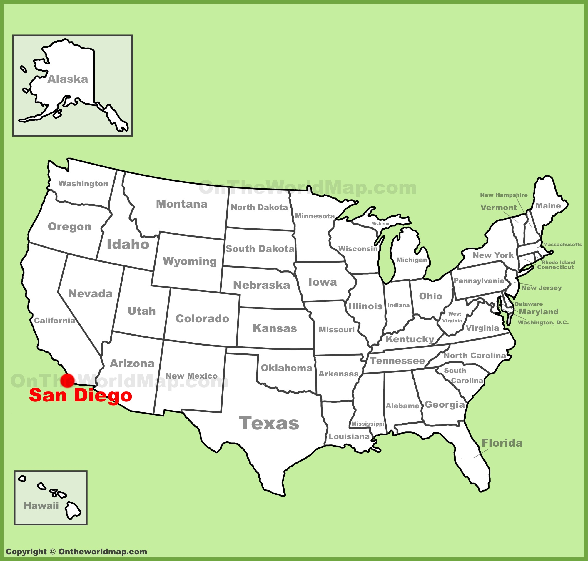 San Diego Location On The U.s. Map - Where Is San Diego California On A Map