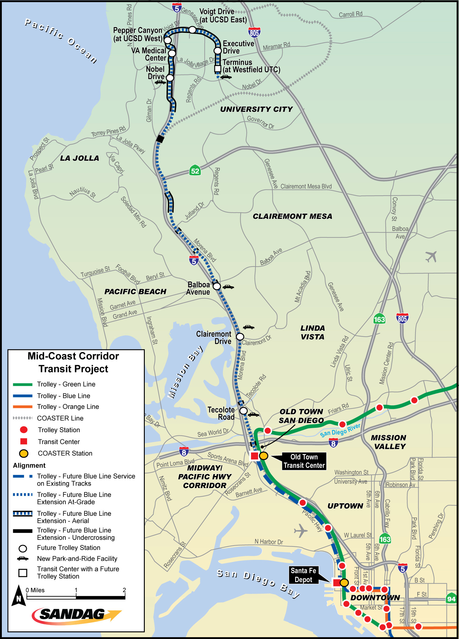 San Diego On A Map Of California Outline Mid Coast Corridor Transit - San Diego On A Map Of California
