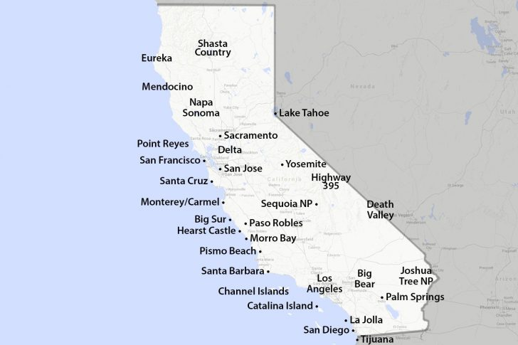 San Diego On The Map Of California
