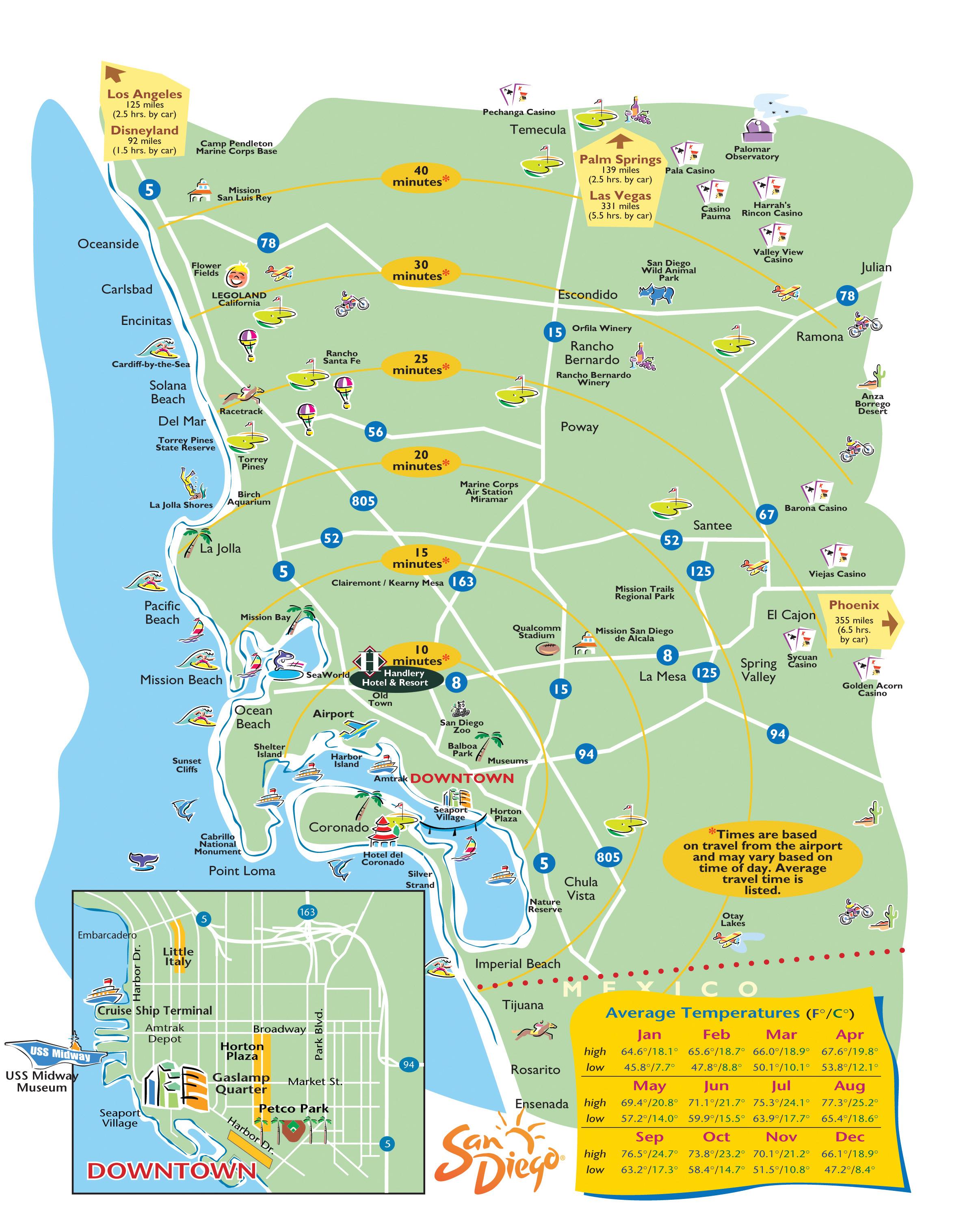 San-Diego-Printable-Maps - Printable Satellite Maps