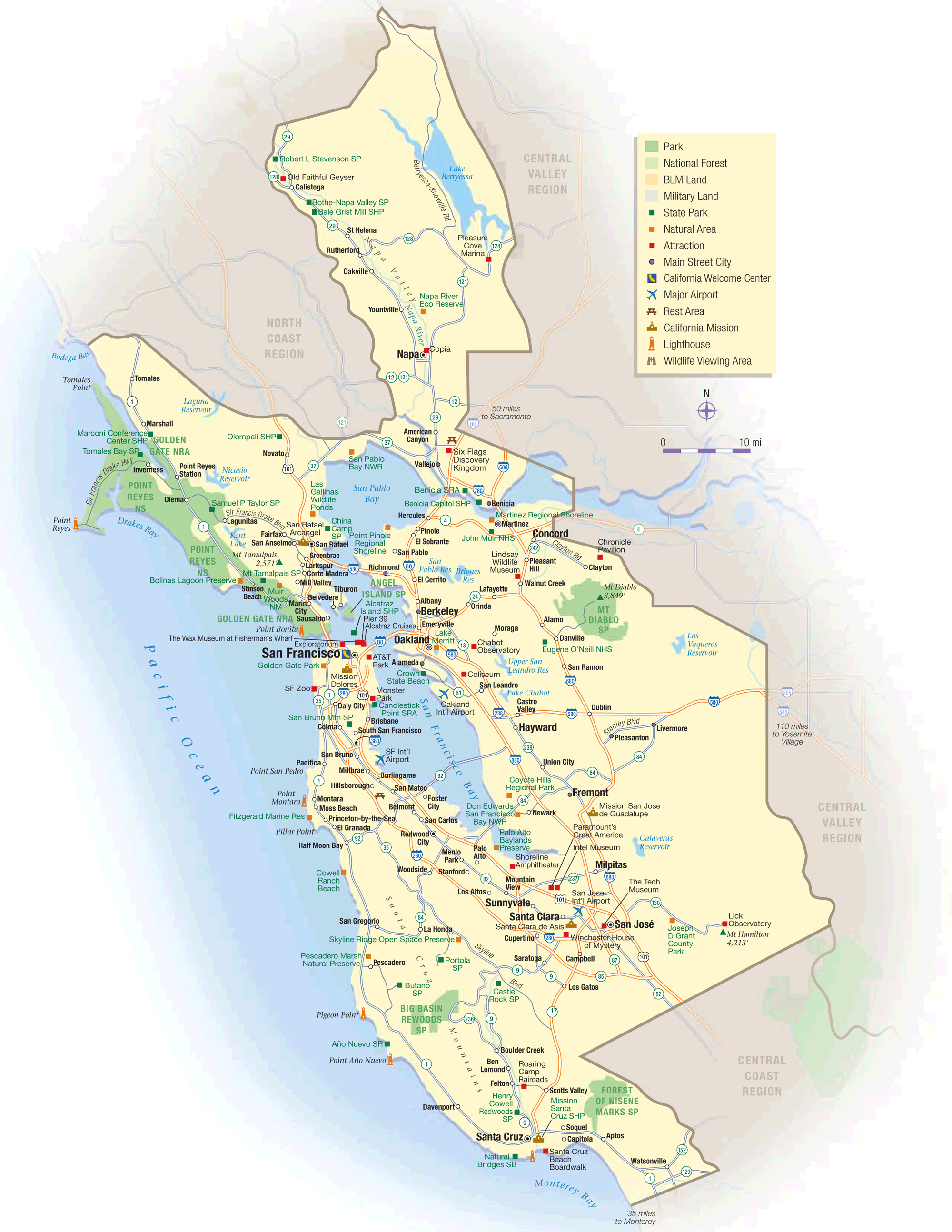 San Francisco California Map From Mapsof 3 - Ameliabd - San Francisco California Map