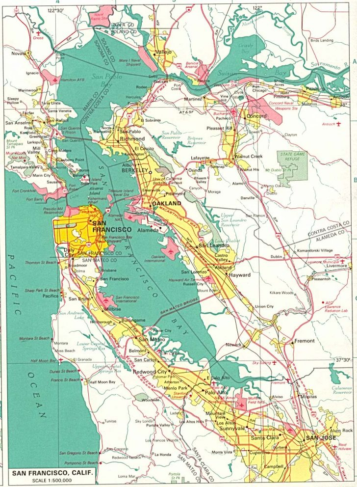 Map Of San Francisco Area California