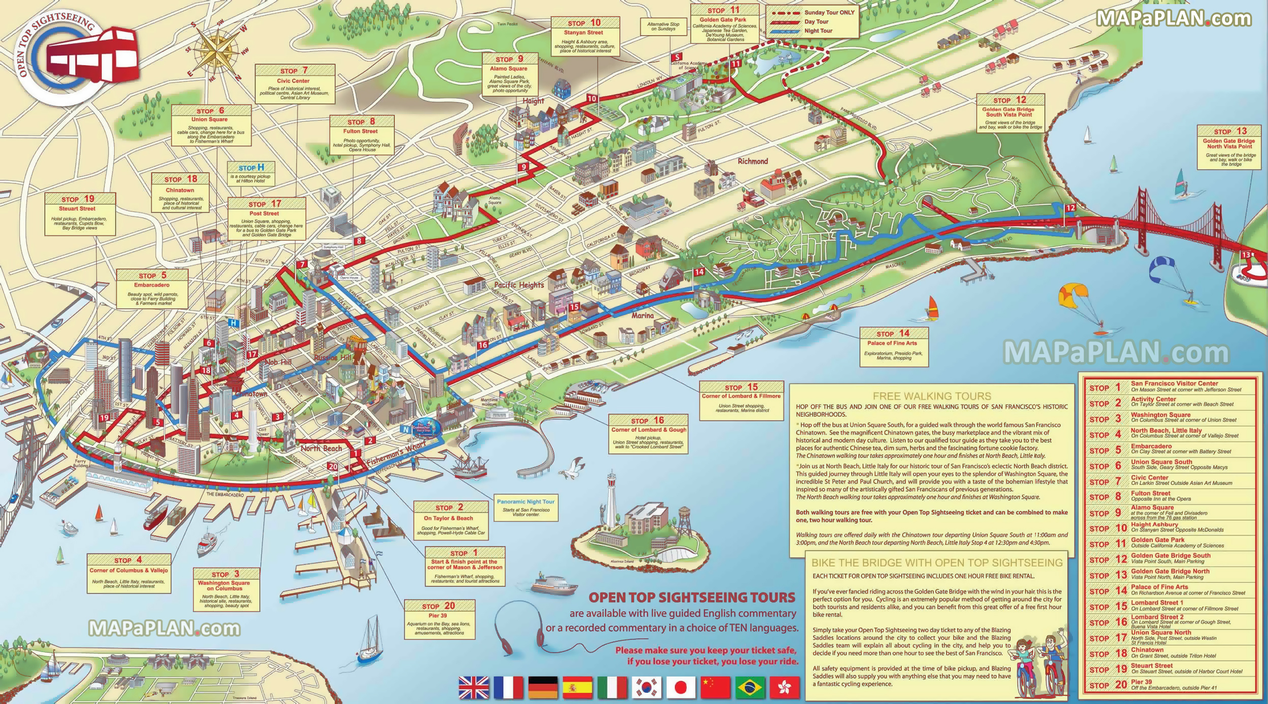 photo relating to Printable Map of San Francisco referred to as San Francisco Maps - Ultimate Vacationer Sights - No cost