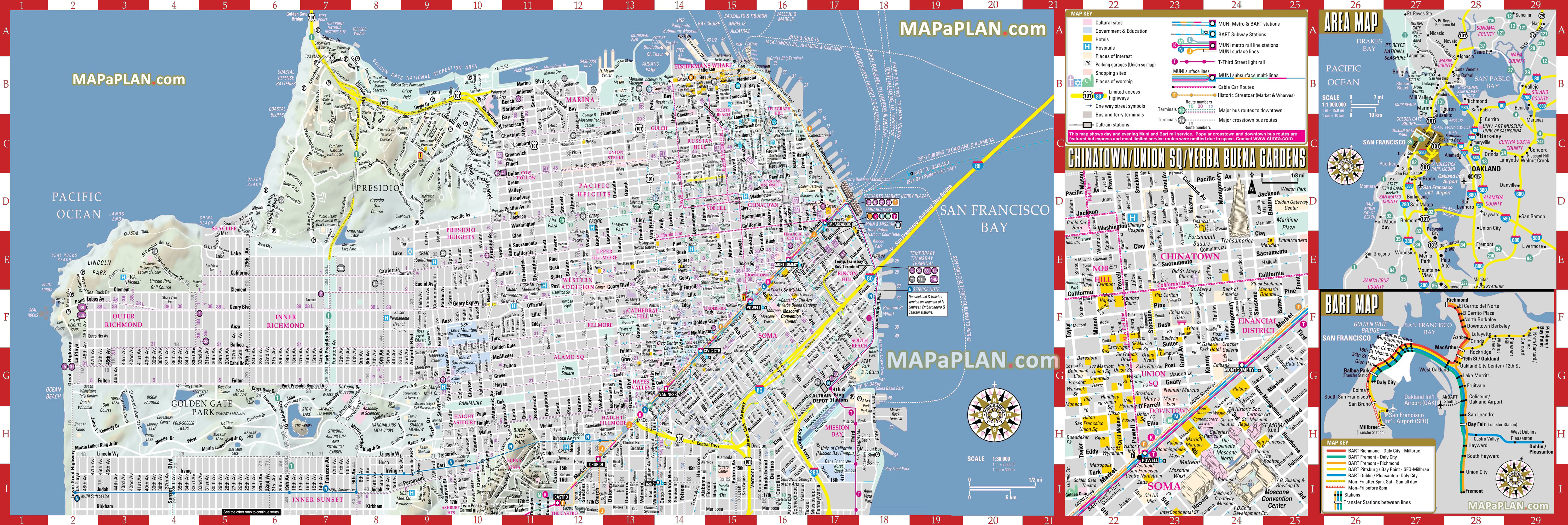 San Francisco Maps - Top Tourist Attractions - Free, Printable City - San Francisco City Map Printable
