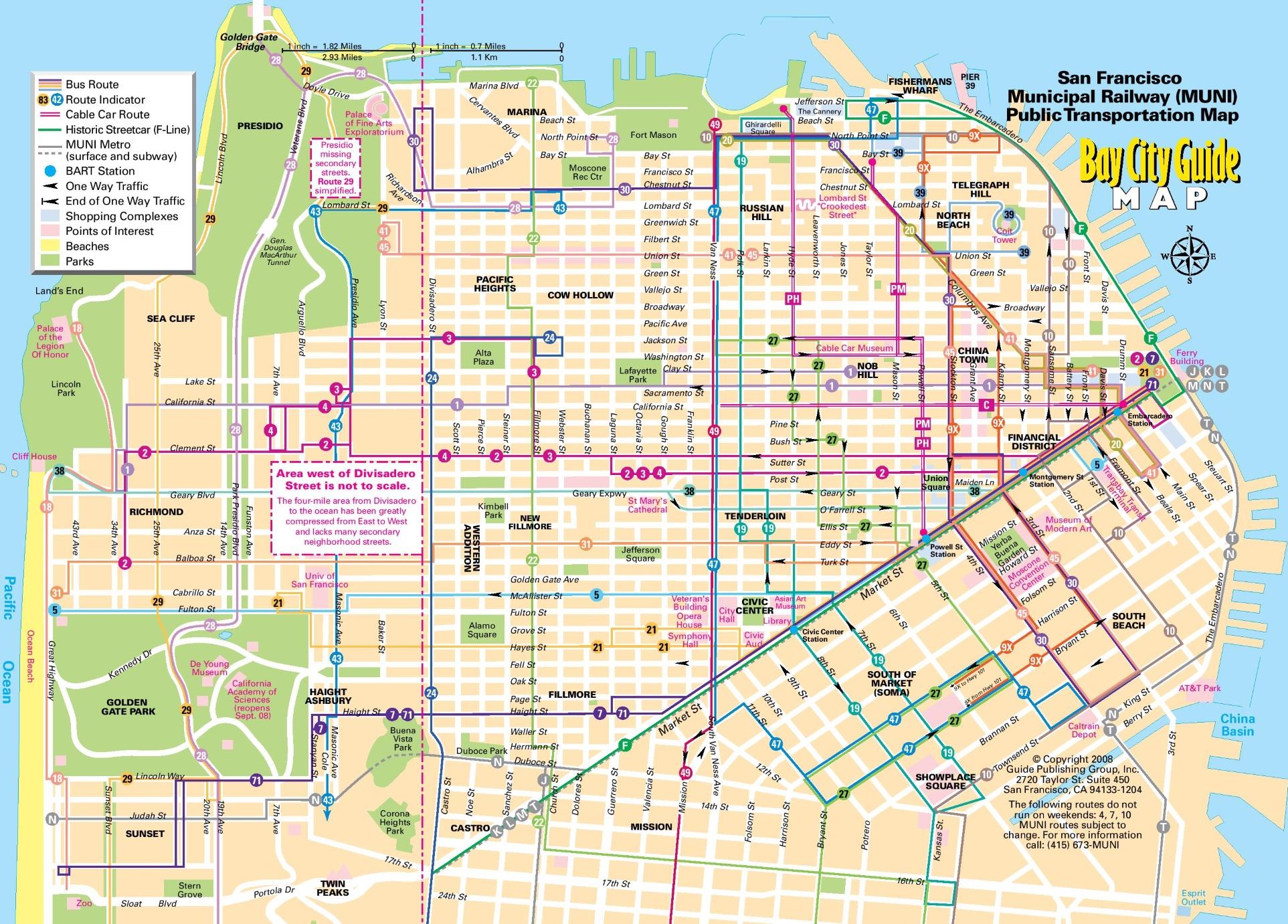 San Francisco Tourist Map - Printable Map Of San Francisco
