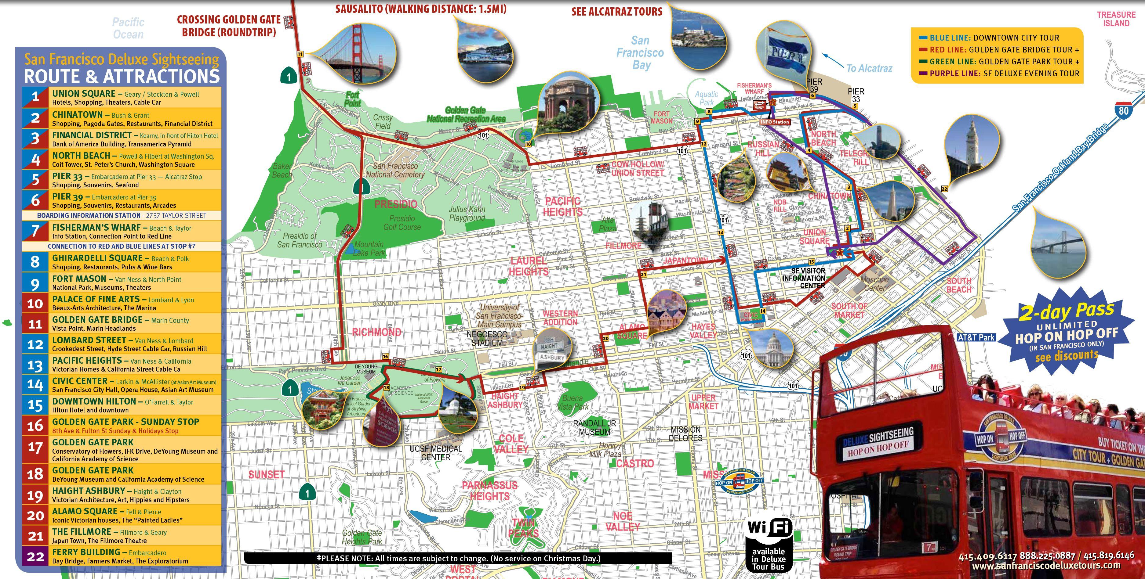 San Francisco Tourist Map Printable | Maps Update #21051488: San - San Francisco City Map Printable