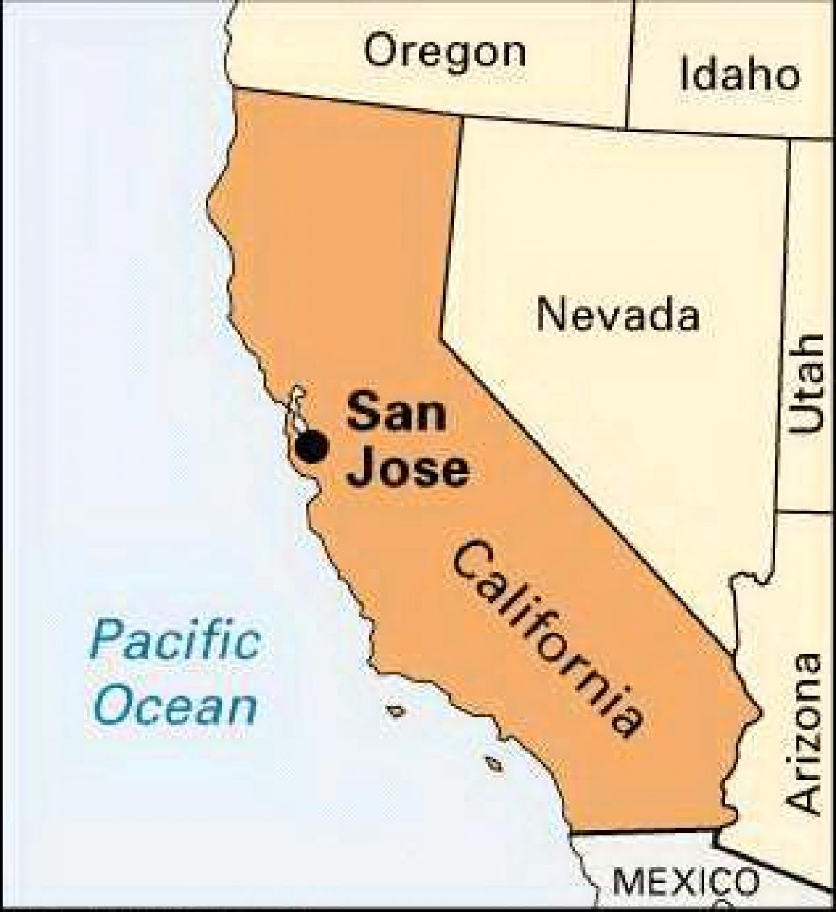 San Jose California Map California Road Map Where Is San Jose - San Jose California Map