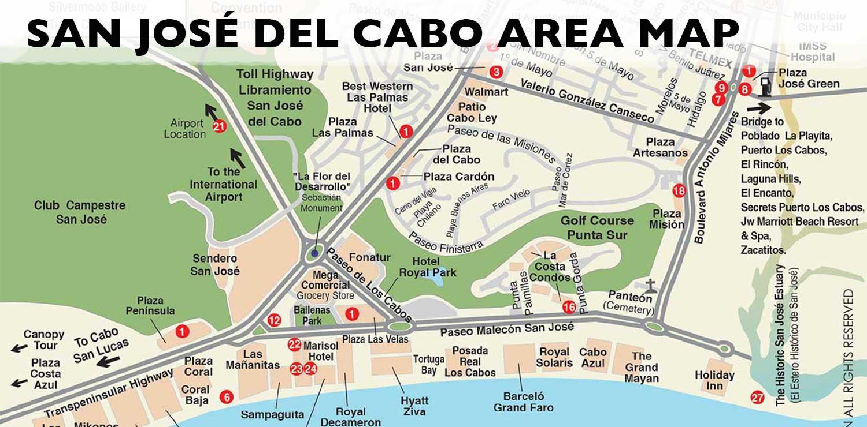 San José Del Cabo Map San Jose Del Cabo, Los Cabos, Baja - Printable Map Of San Jose