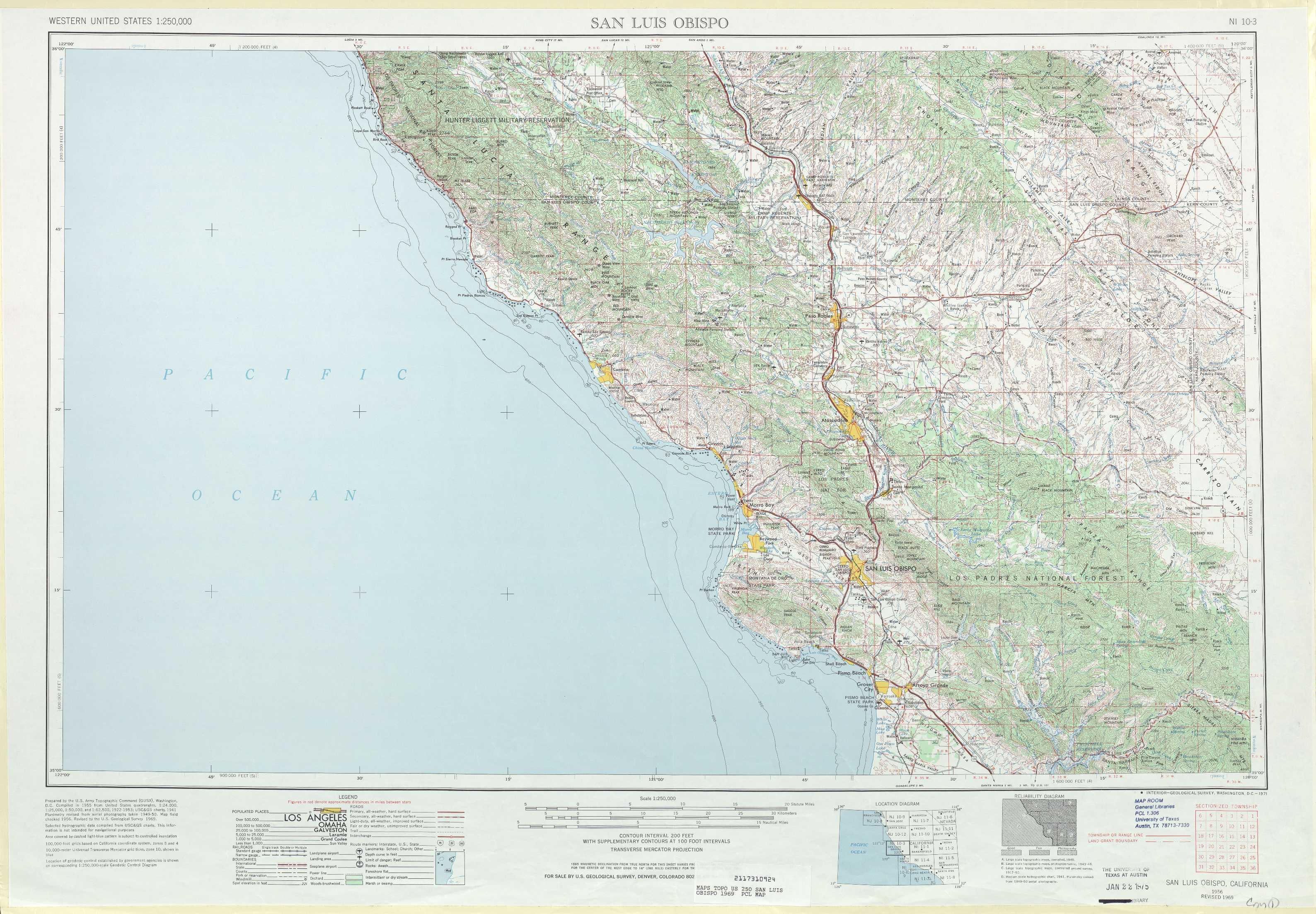 San Luis Obispo Topographic Maps, Ca - Usgs Topo Quad 35120A1 At 1 - Usgs Maps California