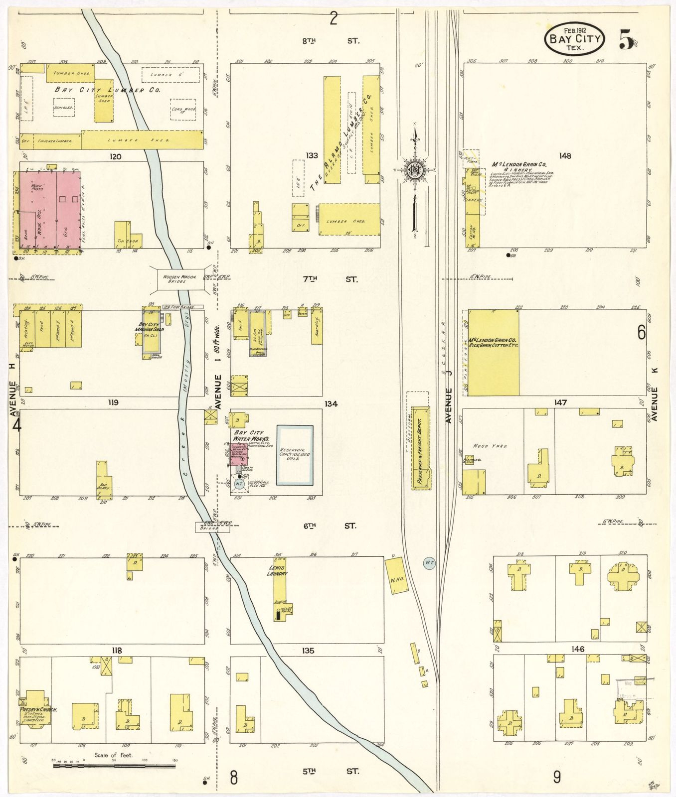 Sanborn Fire Insurance Map From Bay City, Matagorda County, Texas - Map Of Matagorda County Texas