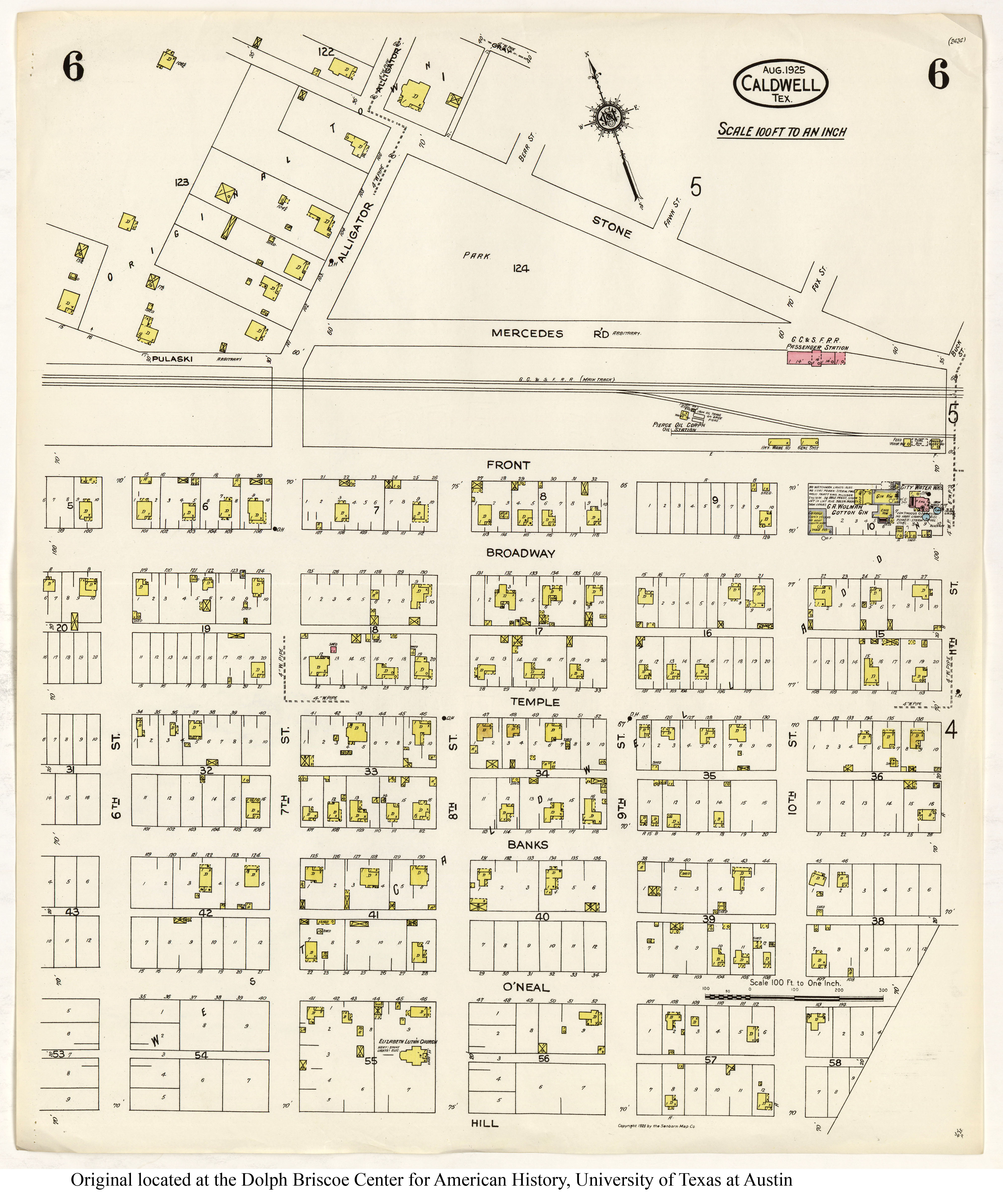 Sanborn Maps Of Texas - Perry-Castañeda Map Collection - Ut Library - Caldwell Texas Map
