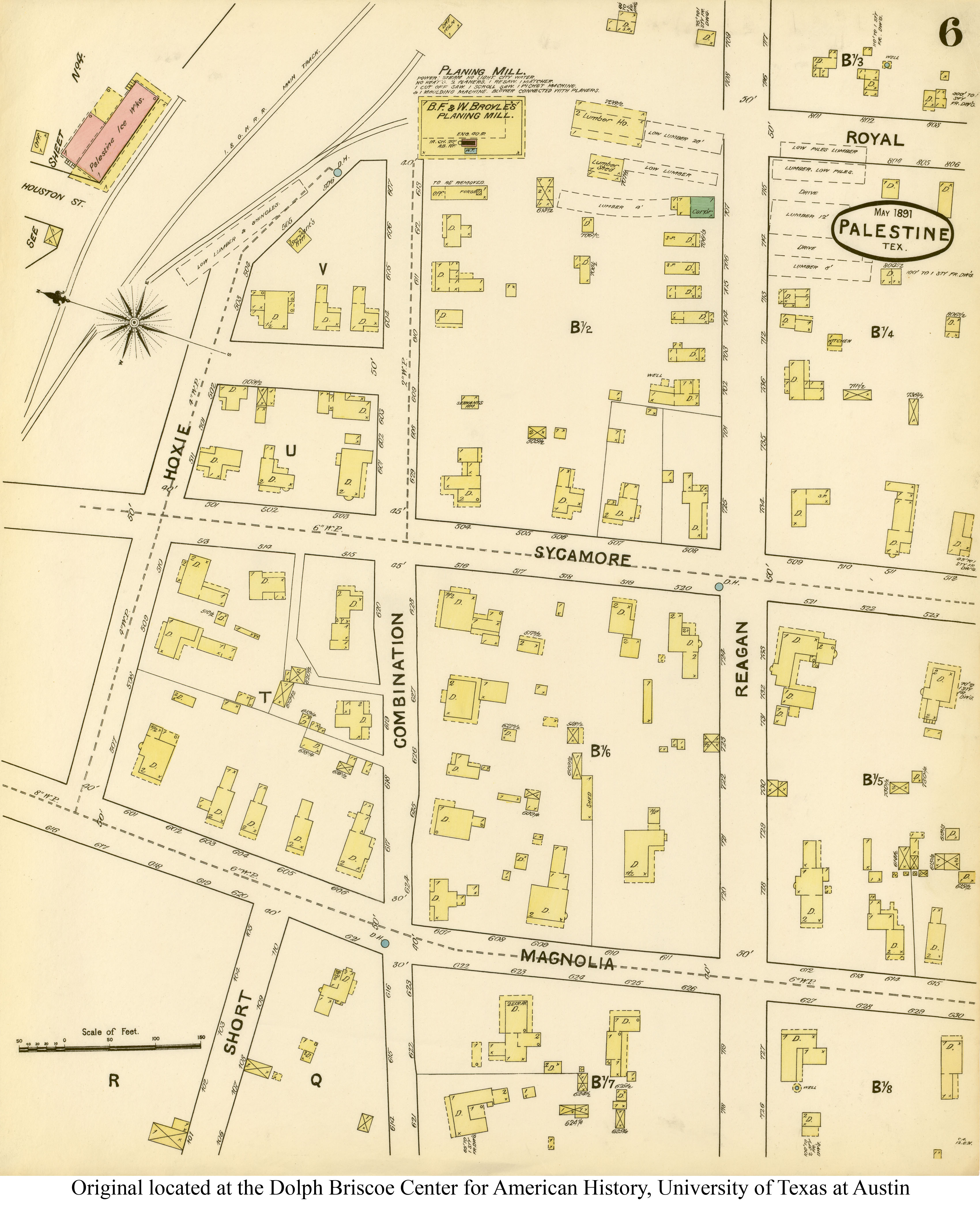 Sanborn Maps Of Texas - Perry-Castañeda Map Collection - Ut Library - Magnolia Texas Map