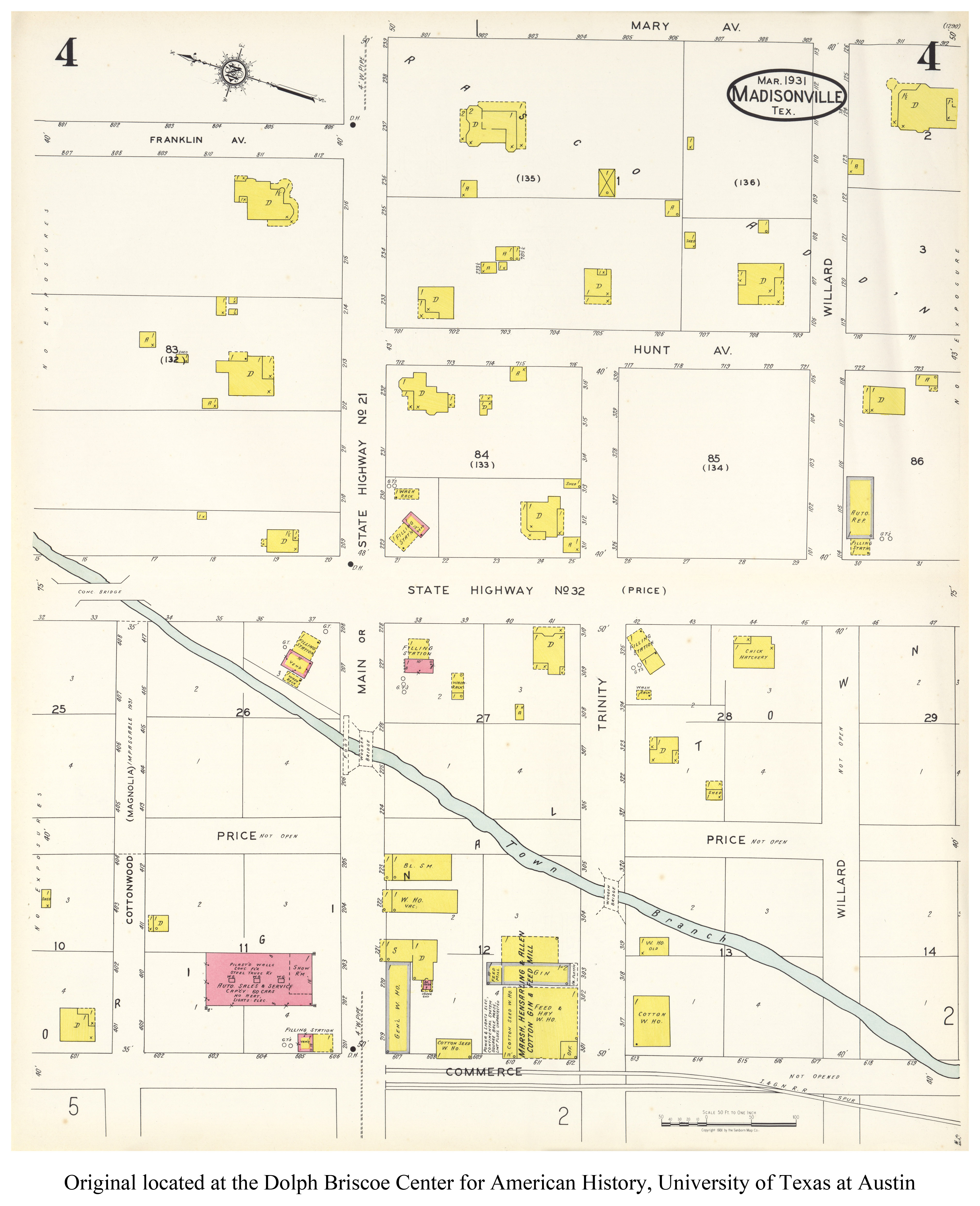 Sanborn Maps Of Texas - Perry-Castañeda Map Collection - Ut Library - Mansfield Texas Map
