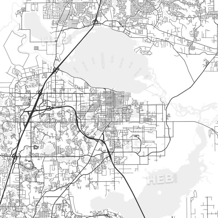 Sanford, Florida - Area Map - Light | Hebstreits - Sanford Florida Map