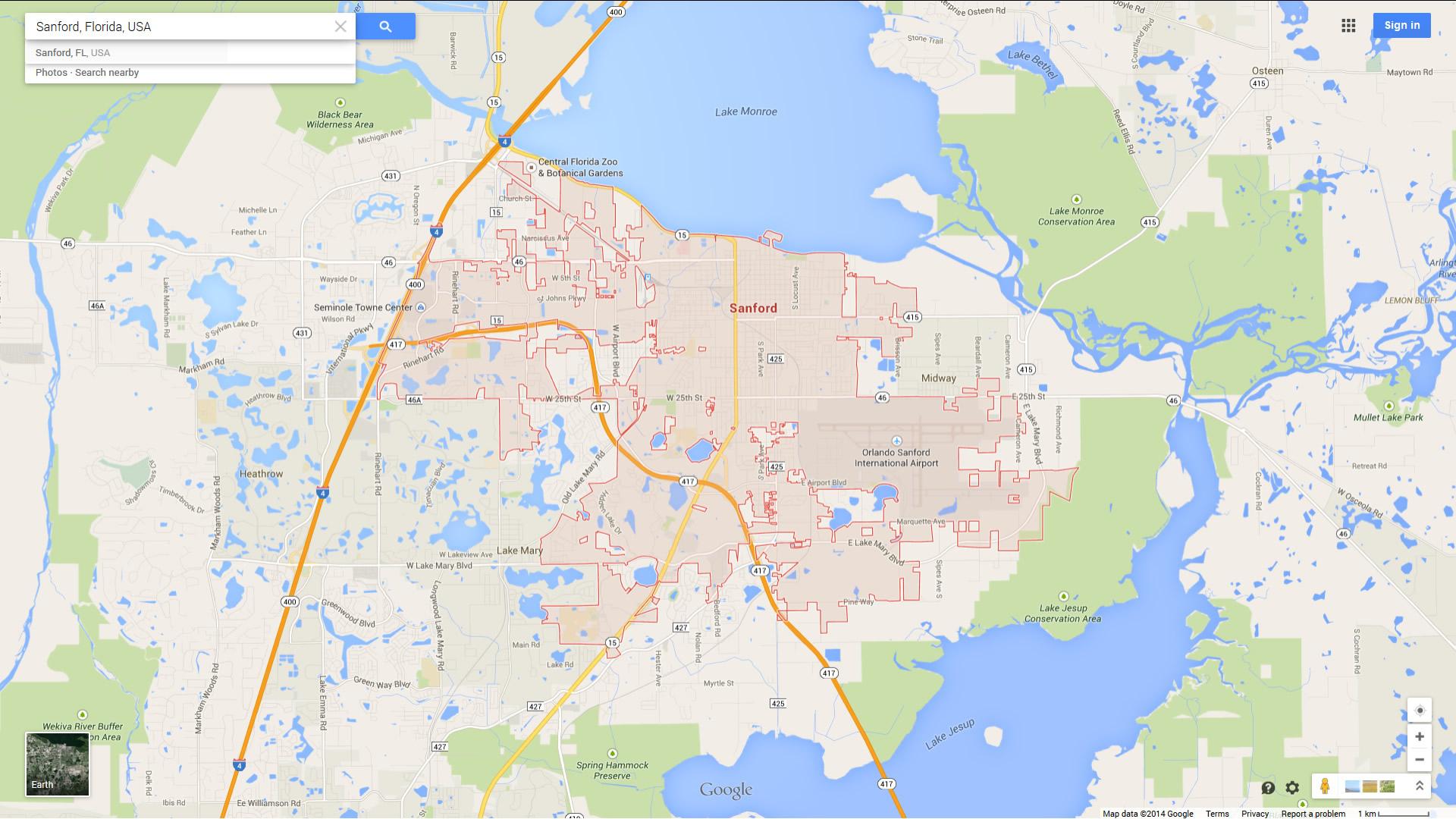 Sanford Florida Map - Sanford Florida Map