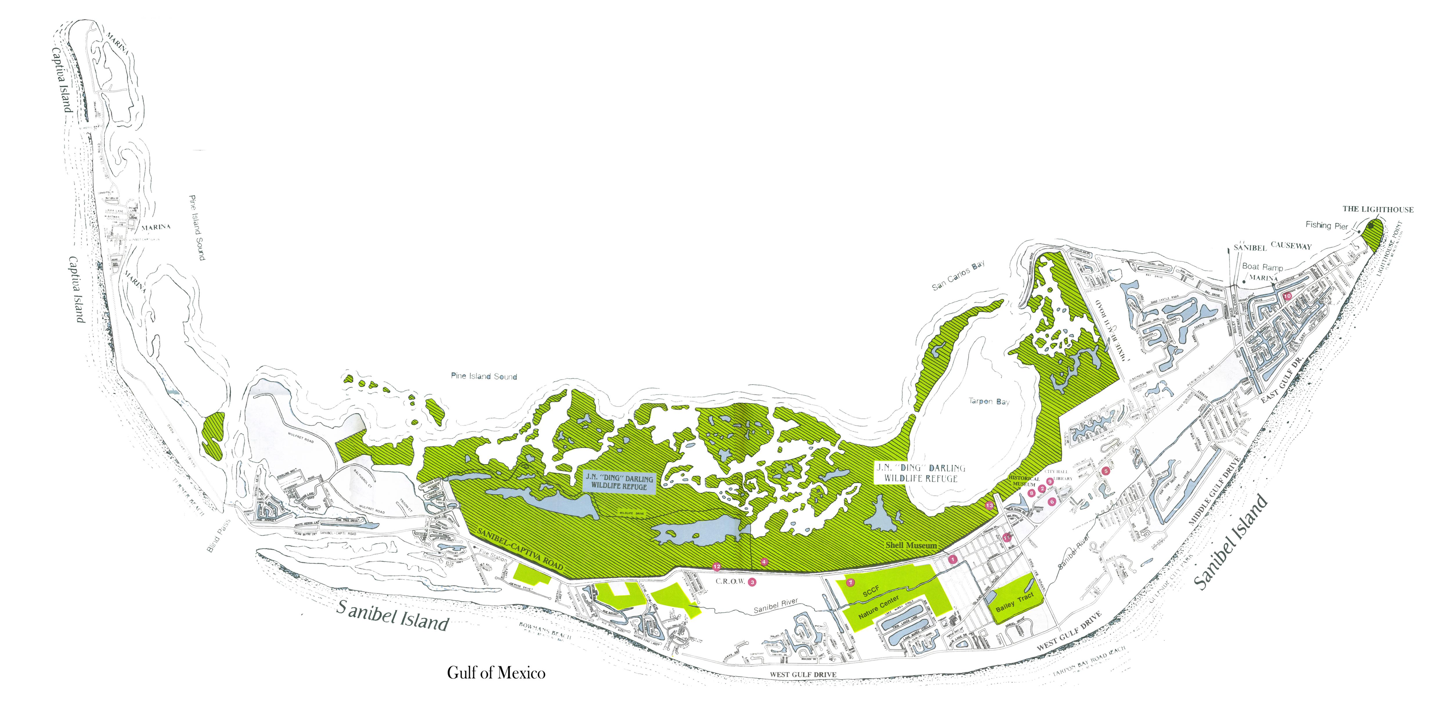 Sanibel, Captiva Island, And North Captiva Island Maps - Captiva Island Florida Map